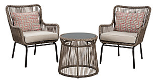 Cotton Road 3-Piece Dining Table Set, , large