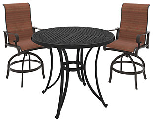Le Town 3 Piece Outdoor Bar Table Set