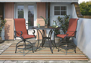 Apple Town 3-Piece Outdoor Bar Table Set, , rollover