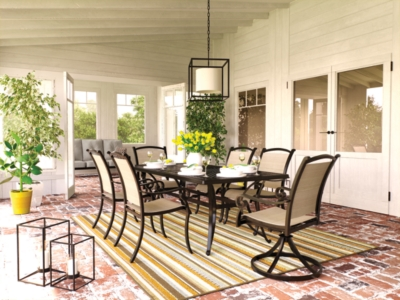 Outdoor Rectangular Dining Set Brown Piece Product Photo 194