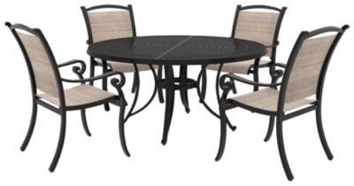 Outdoor Round Dining Set Brown Piece Product Photo 416