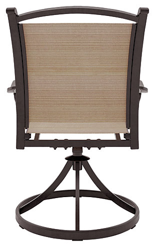 Bass Lake Sling Swivel Chair (Set of 2), , large
