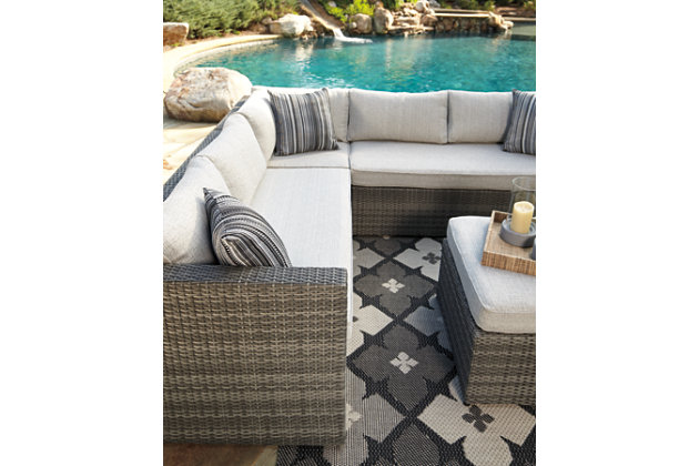 Peckham Park 4-Piece Outdoor Sectional Set, , large