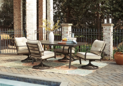 Outdoor Dining Set Beige Brown Piece Product Photo 429