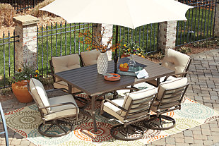 Predmore 7-Piece Outdoor Dining Set, , large