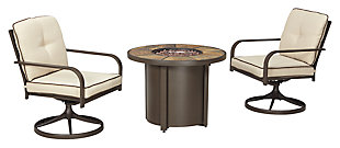 Predmore 3-Piece Outdoor Fire Pit Conversation Set, , large