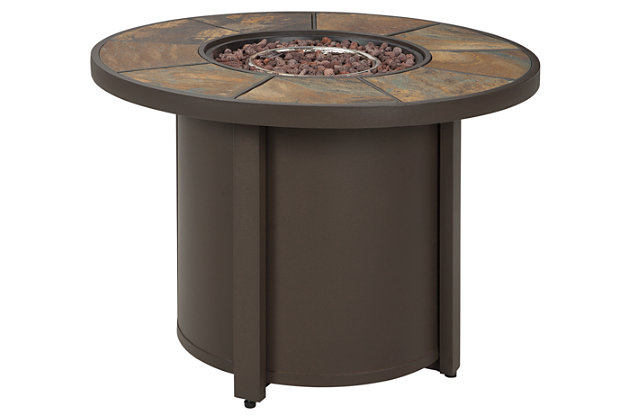 Predmore 5-Piece Outdoor Fire Pit Conversation Set, , large