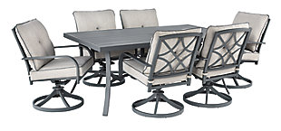 Donnalee Bay Outdoor Dining Table and 6 Chairs, , large