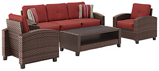 Meadowtown 4 Piece Outdoor Conversation Set, ...