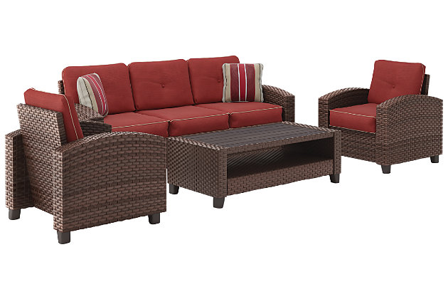 Meadowtown 4-Piece Outdoor Conversation Set, , large