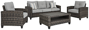 Cloverbrooke 4-Piece Outdoor Conversation Set, , large