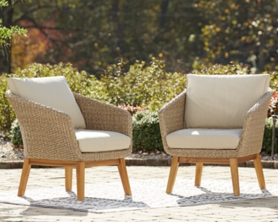 Crystal Cave Outdoor Lounge Chair with Cushion (Set of 2), , large