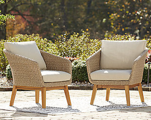 Crystal Cave Outdoor Lounge Chair with Cushion (Set of 2), , rollover