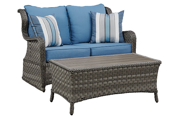 Abbots Court Loveseat Glider with Table, , large