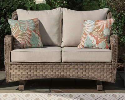 Clear Ridge Glider Loveseat with Cushion, , large