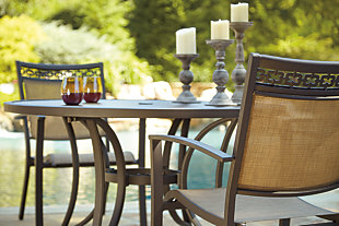 Carmadelia 5-Piece Outdoor Round Dining Set, , large