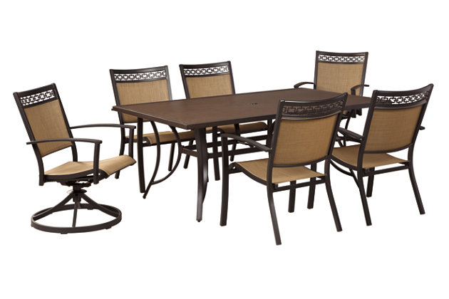 Carmadelia Dining Table with Umbrella Option, , large