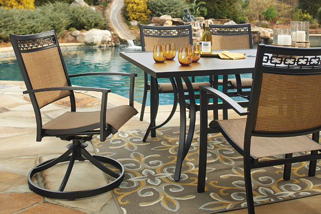 Carmadelia 7-Piece Outdoor Rectangular Dining Set, , large