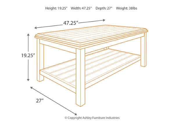 Castle Island Rectangular Cocktail Table, , large