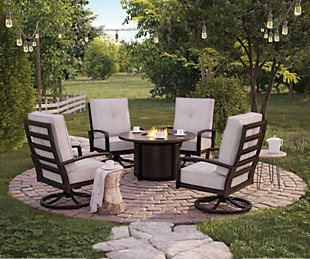 ... Large Castle Island 5 Piece Outdoor Conversation Set, , Rollover