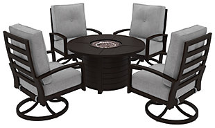 Castle Island 5-Piece Outdoor Conversation Set, , large