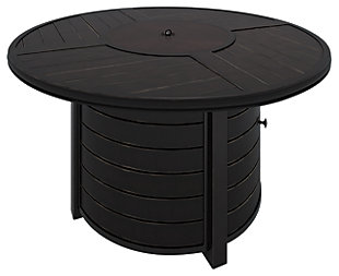 Castle Island Round Fire Pit Table, , rollover