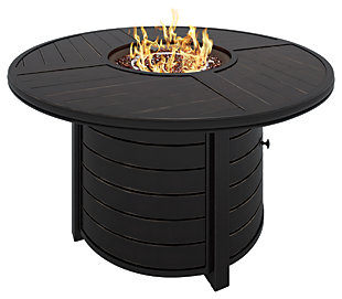 Castle Island Round Fire Pit Table, , large