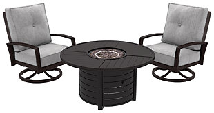 Castle Island 3-Piece Outdoor Conversation Set, , large