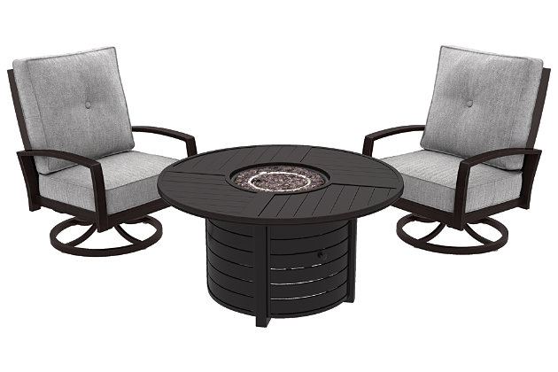 Castle Island 3-Piece Outdoor Conversation Set