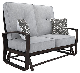 Castle Island Loveseat Glider with Cushion, , rollover