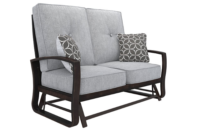 Castle Island Loveseat Glider with Cushion, , large