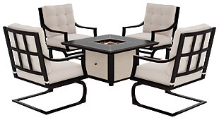 Town Court 5-Piece Outdoor Conversation Set, , large