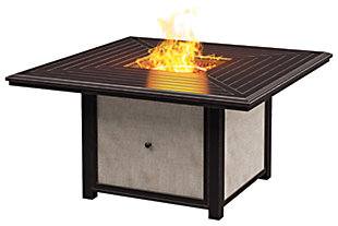 Town Court Square Fire Pit Table, , large
