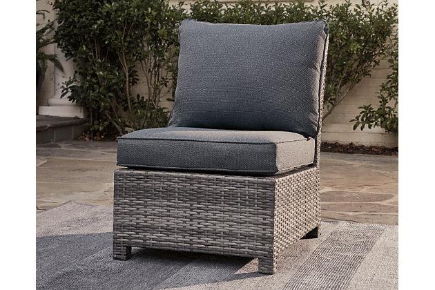 Salem Beach Armless Chair with Cushion, , large