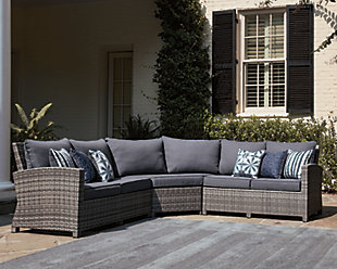 Salem Beach 3-Piece Outdoor Sectional, , rollover