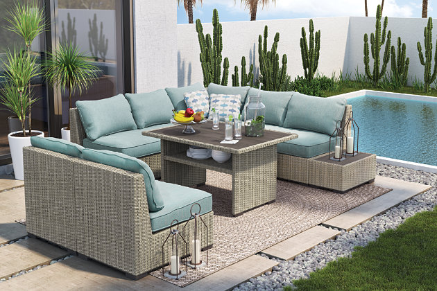 Silent Brook 5-Piece Outdoor Sectional | Tuggl