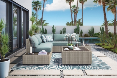 Piece Outdoor Sectional Set Beige Brook Product Photo 262