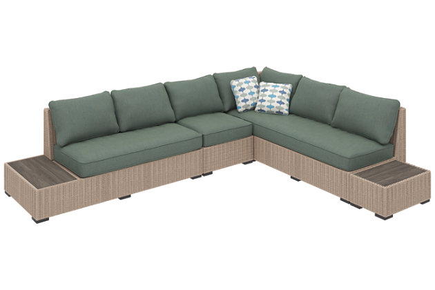 Silent Brook 4-Piece Outdoor Sectional, , large