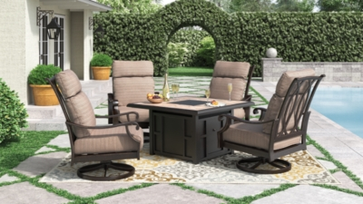Piece Outdoor Conversation Set Brown Ridge Product Photo
