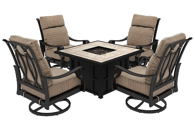 Chestnut Ridge 5-Piece Outdoor Conversation Set, , large