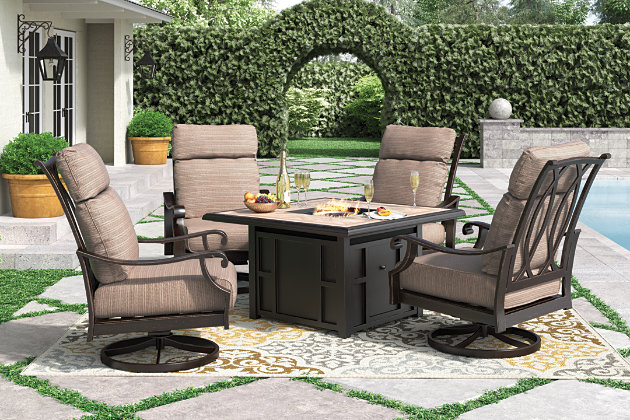 Chestnut Ridge 5 Piece Outdoor Conversation Set, , Large ...