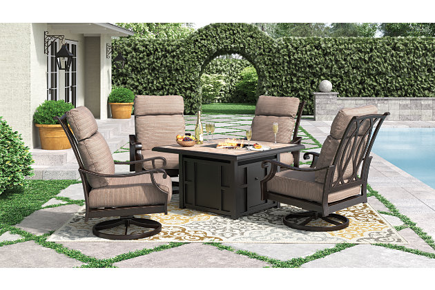 Chestnut Ridge Swivel Lounge with Cushion (Set of 2), , large