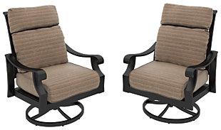 Chestnut Ridge Swivel Lounge with Cushion (Set of 2), , large