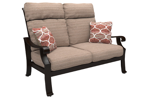 Chestnut Ridge Loveseat with Cushion, , large