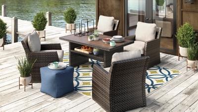 Salceda Lounge Chair with Cushion, , large