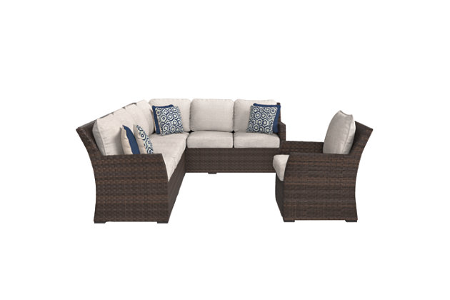 Salceda 3-piece Outdoor Sofa Set, , large