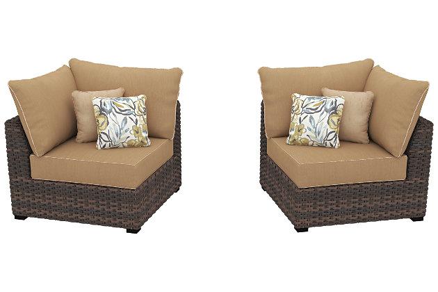 Spring Ridge Corner Chair with Cushion (Set of 2), , large