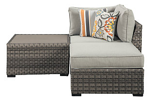 Spring Dew Corner Chair/Ottoman/Table (Set of 3), , large