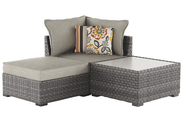 Elegant ... Spring Dew Corner Chair/Ottoman/Table (Set Of 3), , Large ...