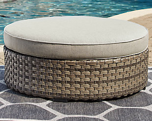 Spring Dew Ottoman with Cushion, , rollover